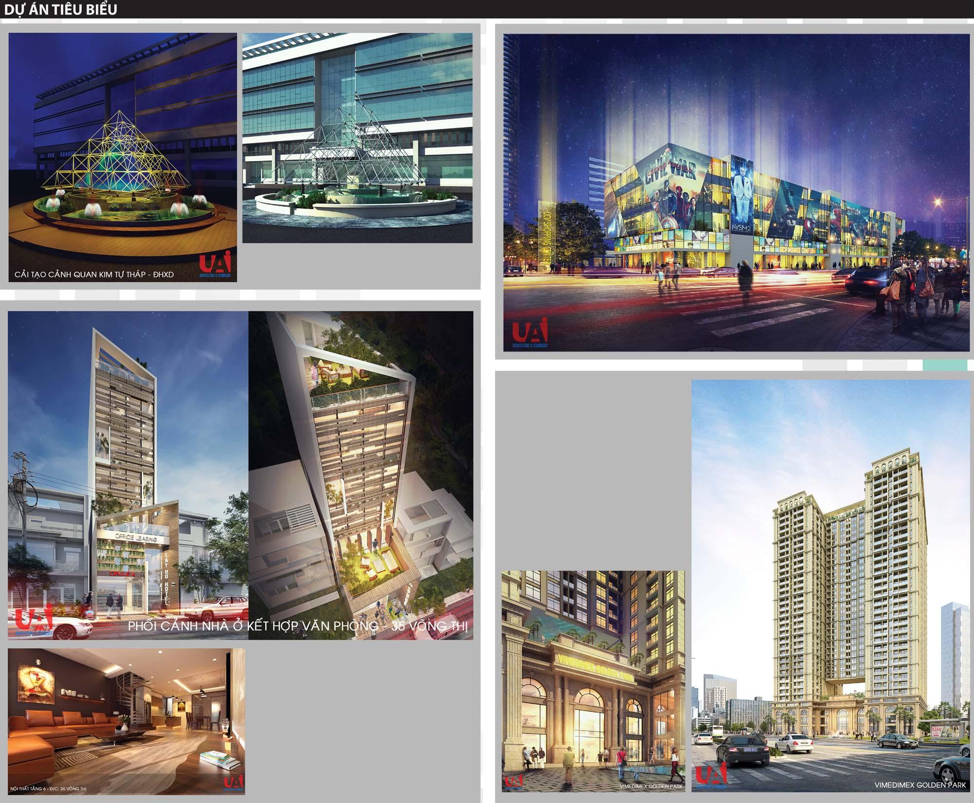 Dự án tiêu biểu của phòng kiến trúc và công nghệ (KT4)