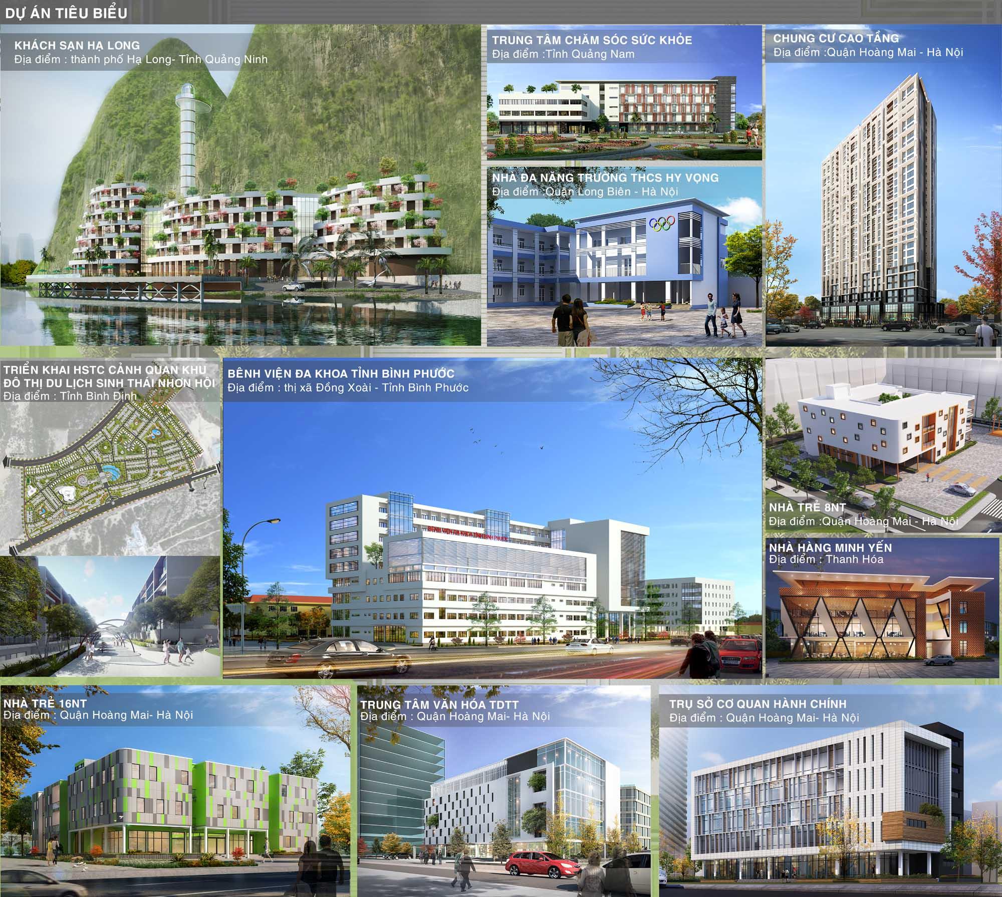 Dự án tiêu biểu phòng Kiến trúc và Cảnh quan (KT2)