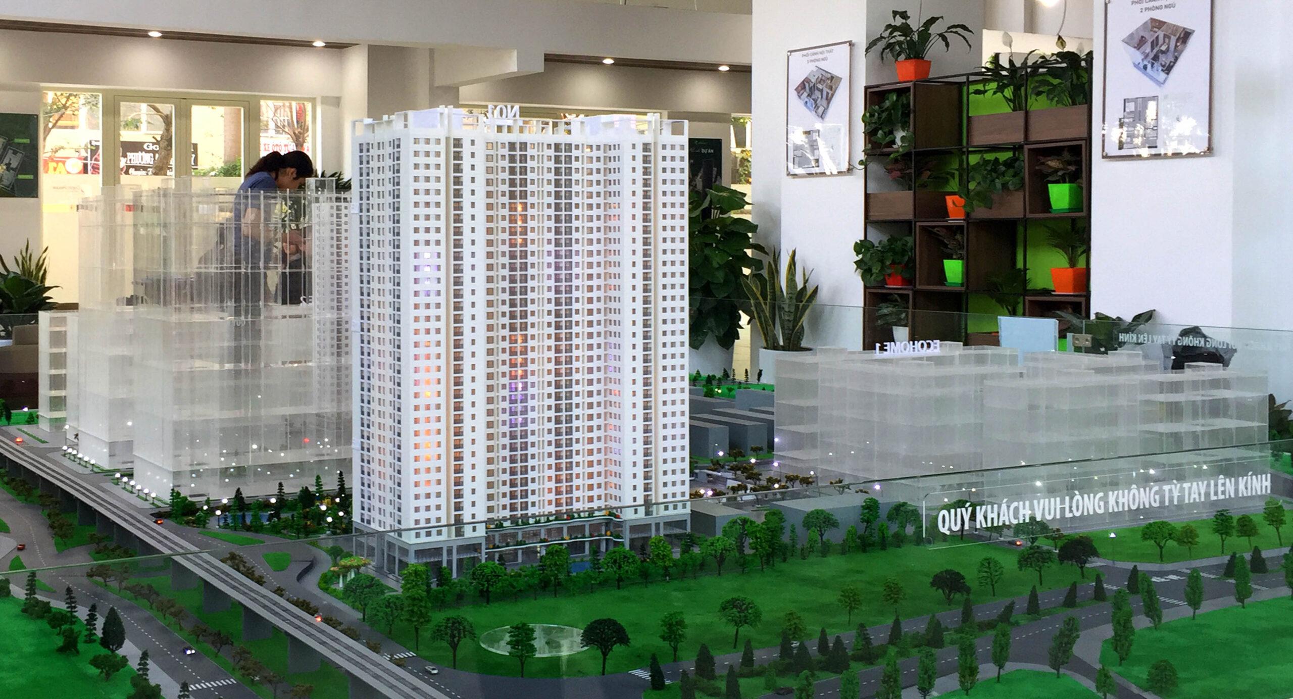 Mô hình kiến trúc khu nhà ở Ecohome 3