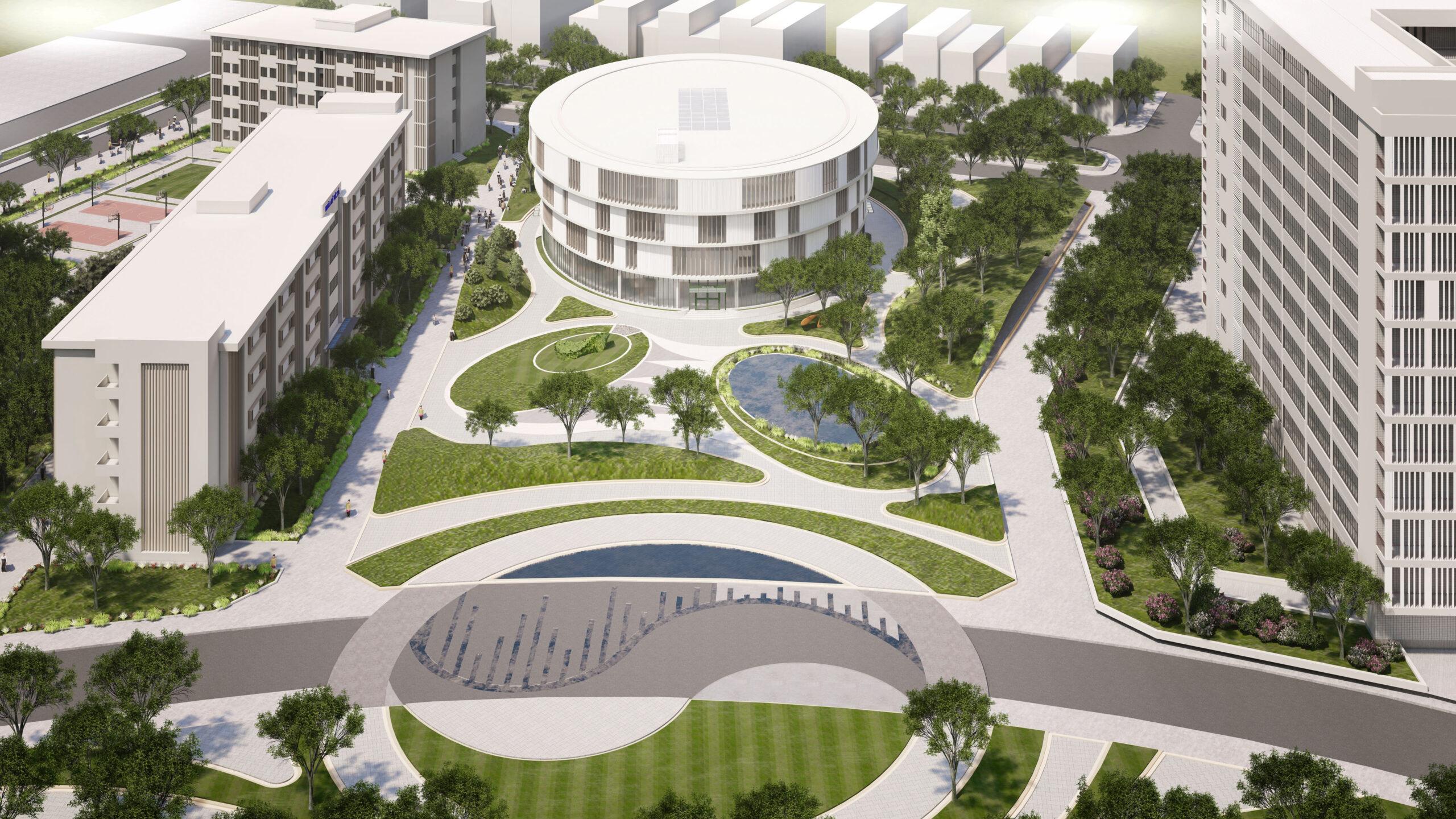 Khối Thư viện và Nhà ăn dự án Đầu tư Xây dựng tăng cường cơ sở vật chất trường Đại học Tài nguyên và Môi trường Hà Nội tại Băc Ninh